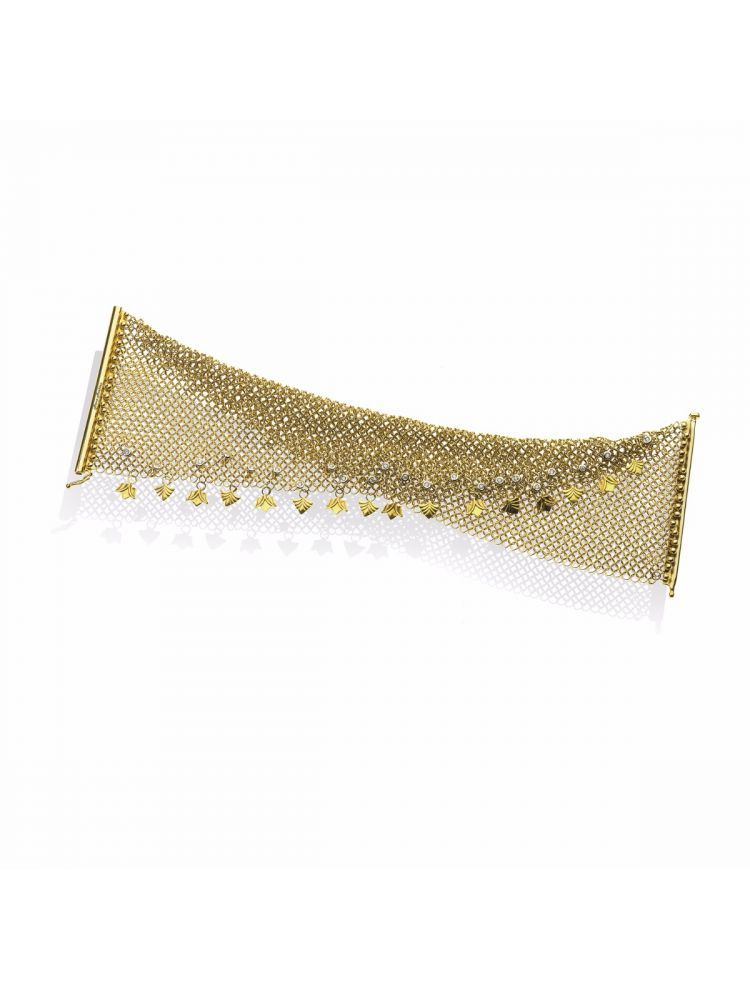 Anna Avakian yellow gold bracelet with diamonds