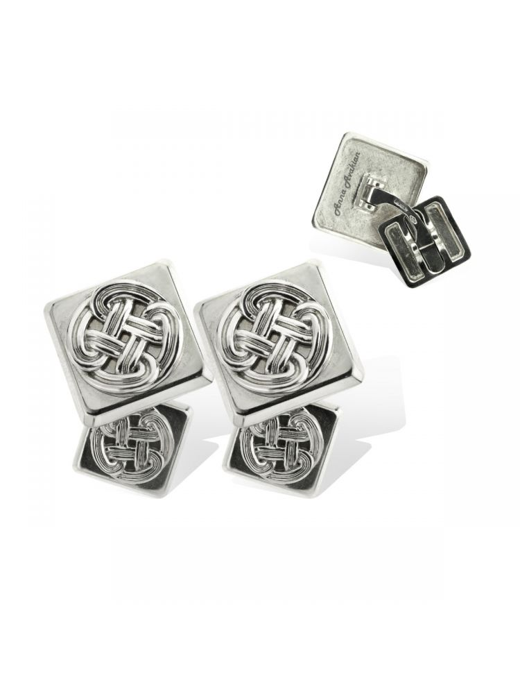 Anna Avakian white gold square cufflinks