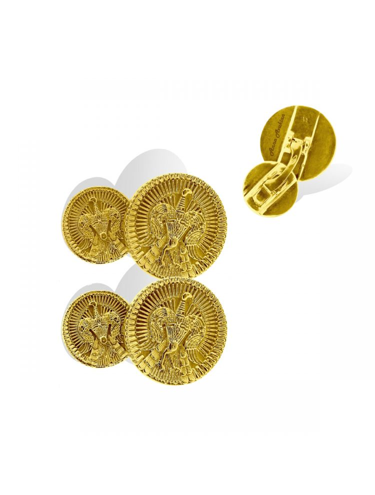 Anna Avakian yellow gold cufflinks