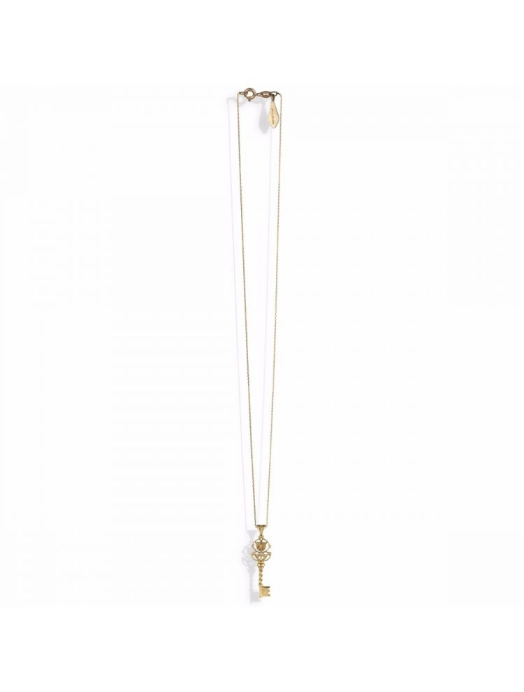 Anna Avakian yellow gold key pendant