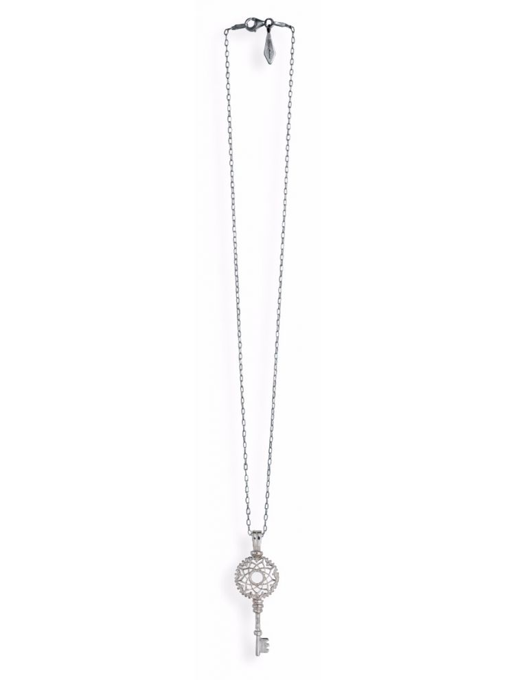 Anna Avakian silver key pendant
