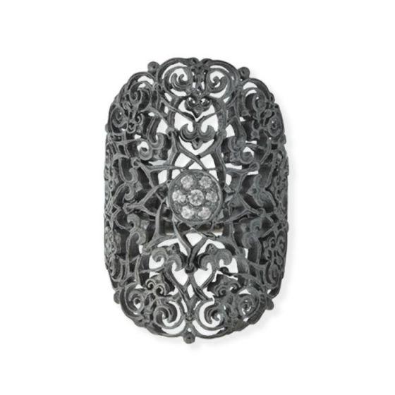 Anna Avakian black gold ring