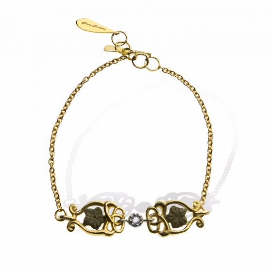 Anna Avakian yellow gold bracelet with star stones