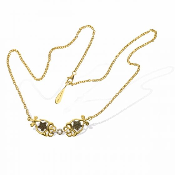 Anna Avakian gold necklace with star stones