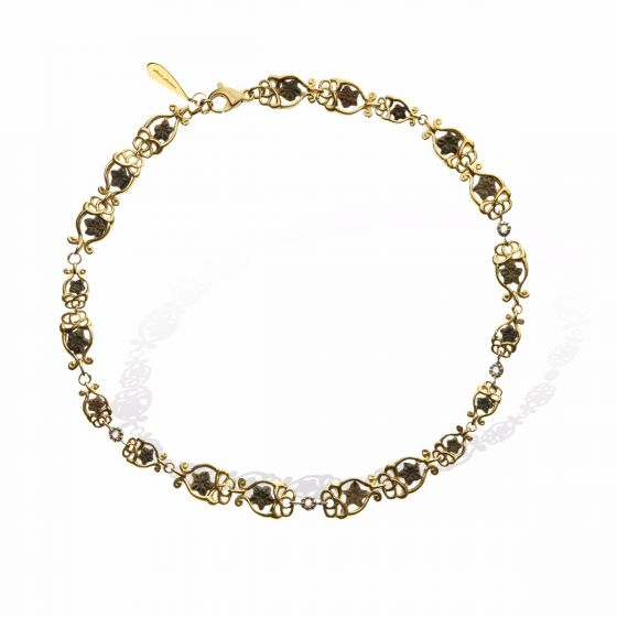 Anna Avakian yellow gold necklace with star stones