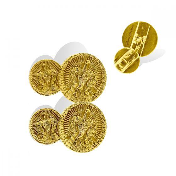 Anna Avakian yellow gold cufflinks