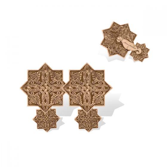Anna Avakian pink gold cufflinks