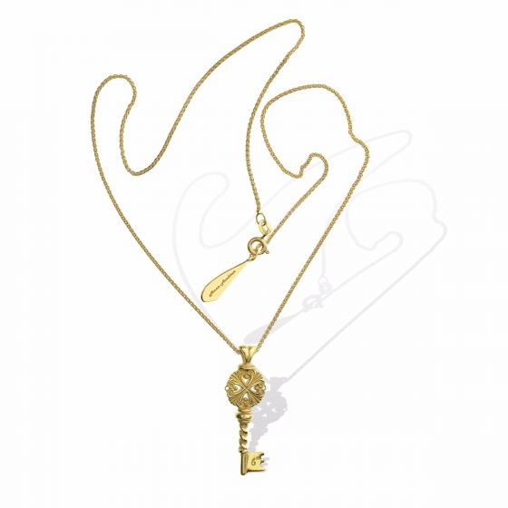 Anna Avakian yellow gold pendant and chain