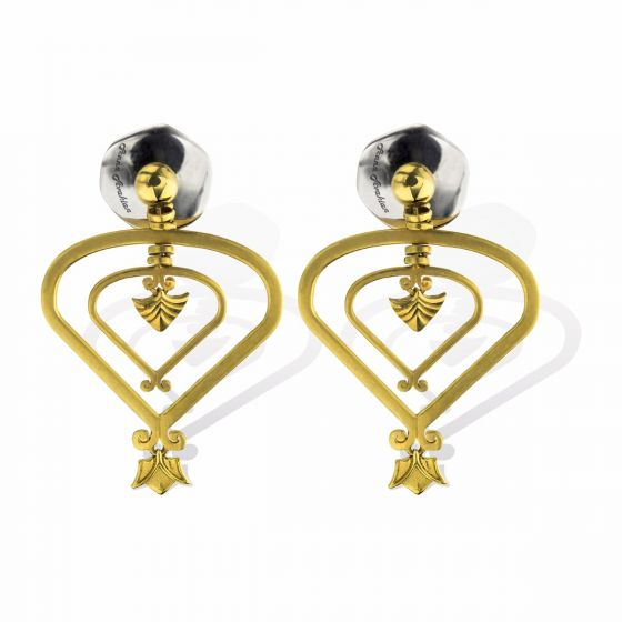 Anna Avakian yellow gold earrings