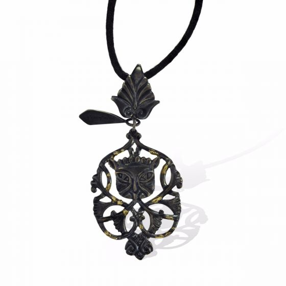 Anna Avakian silver pendant with gold