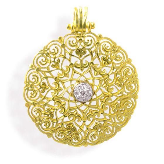 Anna Avakian yellow gold pendant with diamonds