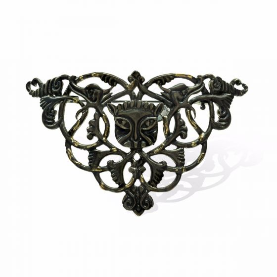 Anna Avakian yellow gold and silver brooch