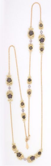 Anna Avakian necklace with star stones and diamonds