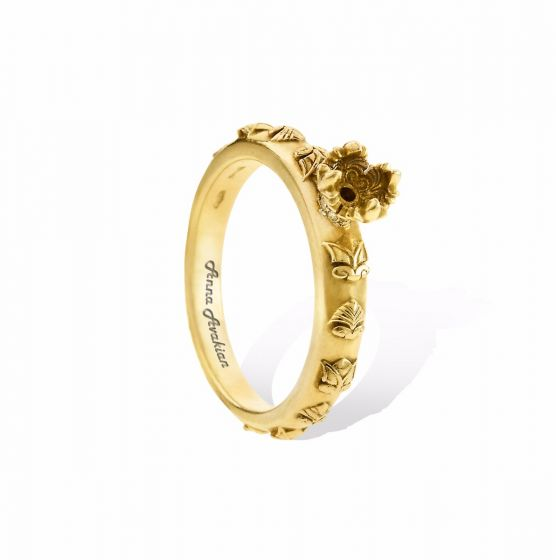 Anna Avakian yellow gold engagement ring